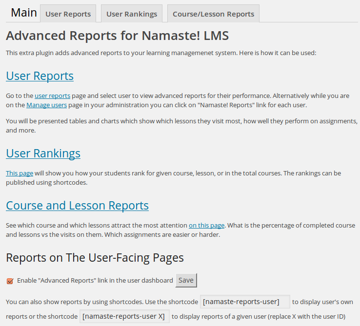 What's In Namaste! Reports – Namaste! LMS Documentation and Demo