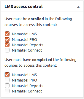 Access Control: Restrict Any Site Content Based on Course Enrollment